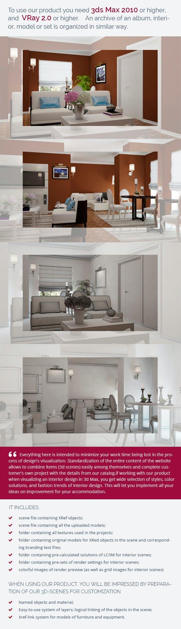 Living Room 0435 - 3DOcean Item for Sale