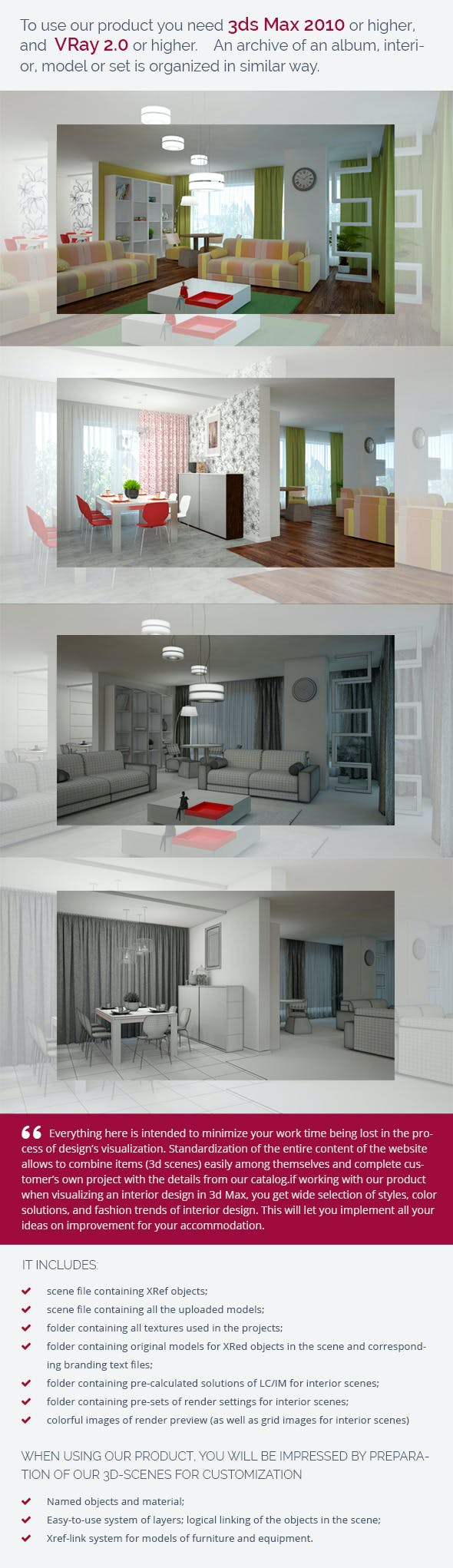 Living Room 0145 - 3DOcean Item for Sale