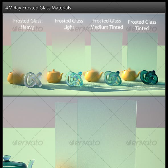 4 Frosted Glass V-Ray Materials