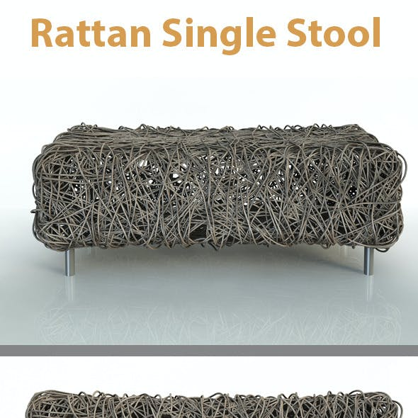 Rattan Single Stool