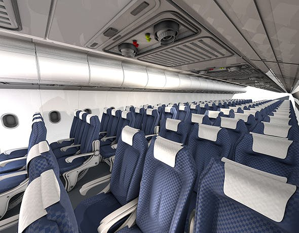 airplane interior - 3DOcean Item for Sale
