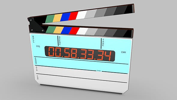 Digital movie/film clapper board - 3DOcean Item for Sale