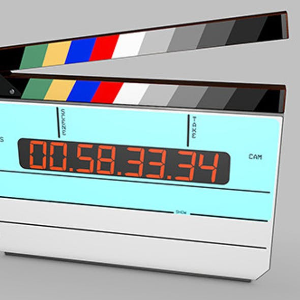 Digital movie/film clapper board