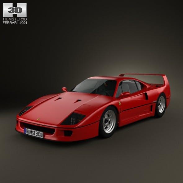 Ferrari F40 1987 - 3DOcean Item for Sale