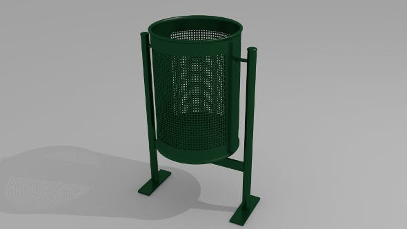 City trash can - 3DOcean Item for Sale