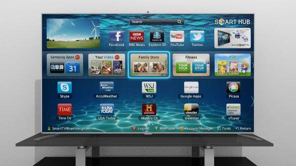 Samsung F8000 Smart TV - 3DOcean Item for Sale