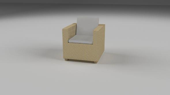 Wicker Armchair - 3DOcean Item for Sale