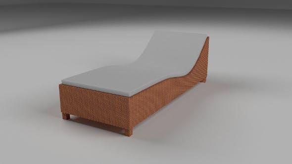 Wicker Lounge - 3DOcean Item for Sale
