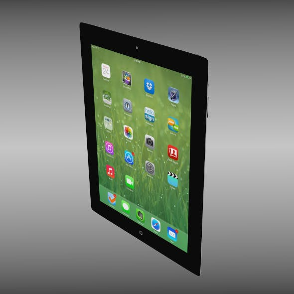 iPad four 4th generation iOS 7 - 3DOcean Item for Sale