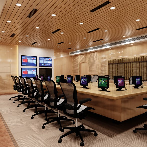 Realistic Conference Room - 3DOcean Item for Sale