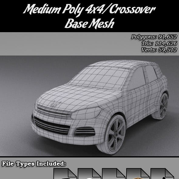 Medium Poly 4x4/Crossover Base Mesh