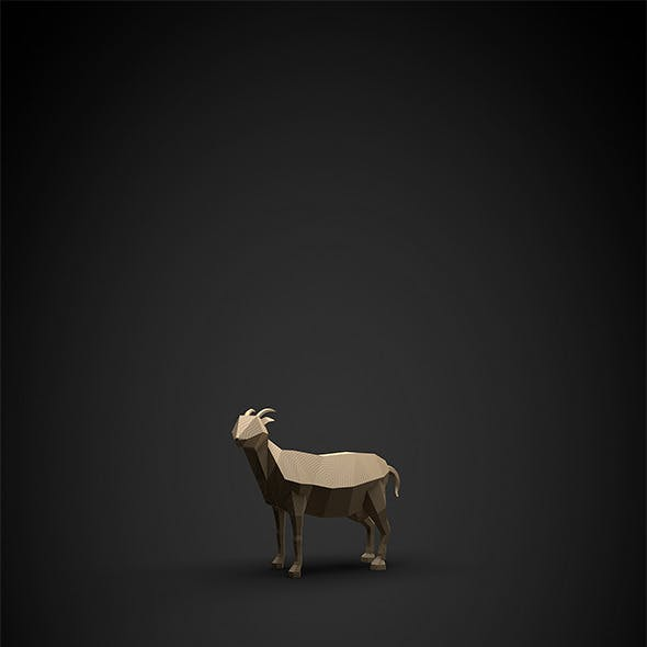 Low poly goat for the new year 2015