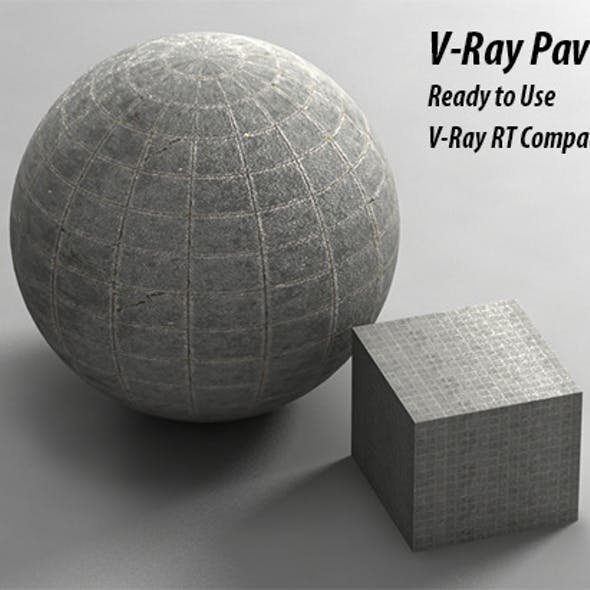 V-Ray Pavement Material