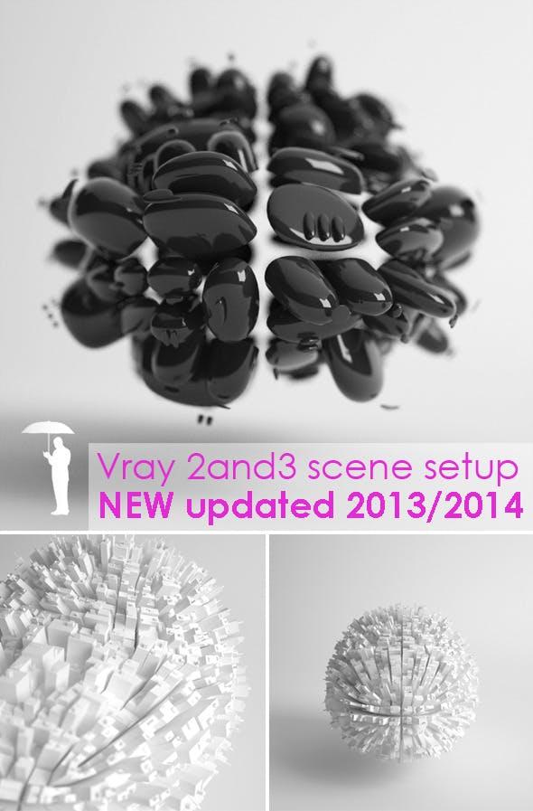 Studio scene setup for VRAY - 3DOcean Item for Sale