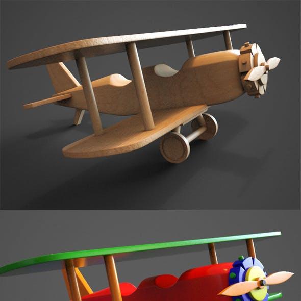 Wooden Biplane Toy