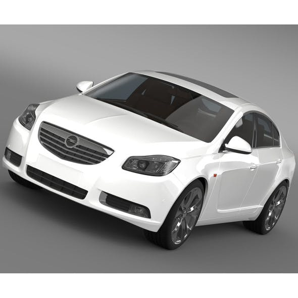 Opel Insignia Hatchback Turbo 2008-13 - 3DOcean Item for Sale