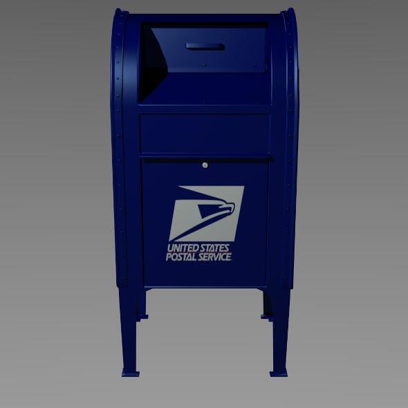USPS Mailbox - 3DOcean Item for Sale