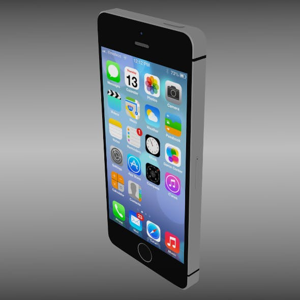 Iphone 5S gray - 3DOcean Item for Sale