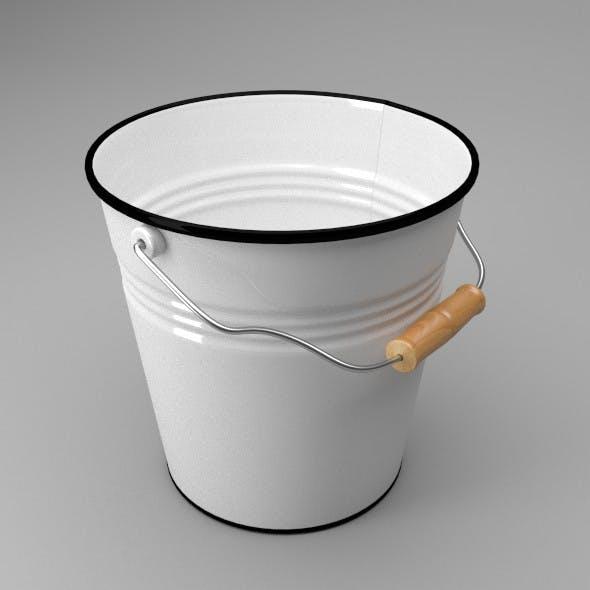Enamelled Bucket - 3DOcean Item for Sale
