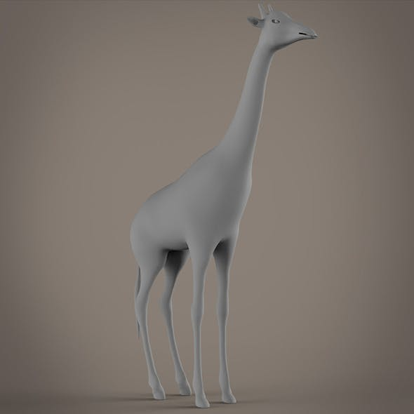 Giraffe base model - 3DOcean Item for Sale