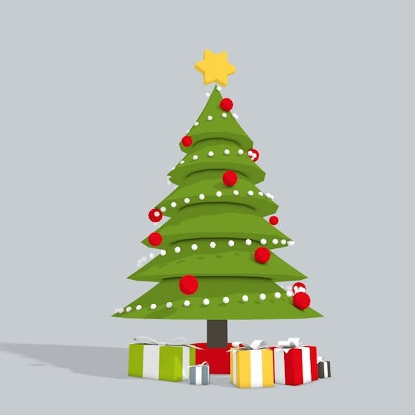 3D Christmas Tree Low Poly - 3DOcean Item for Sale