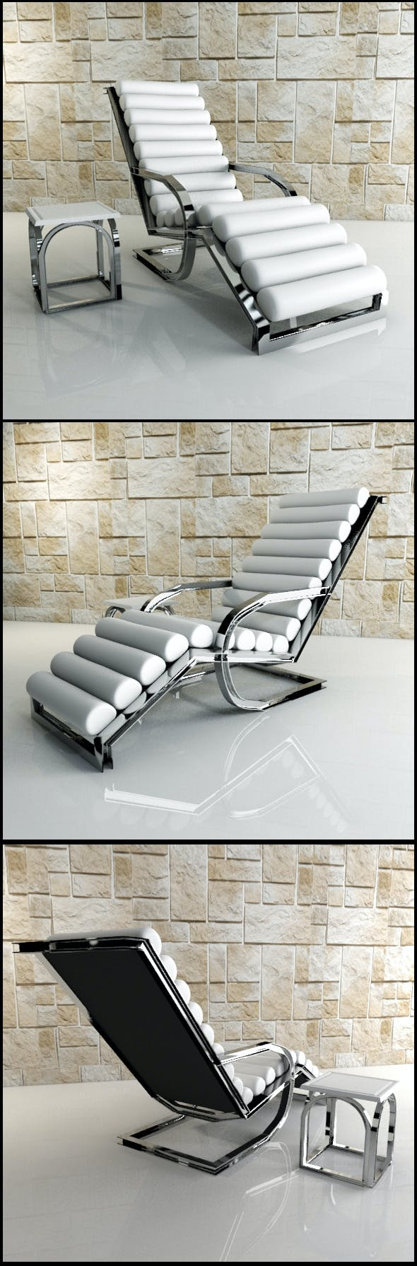 White Lounge Chair - 3DOcean Item for Sale