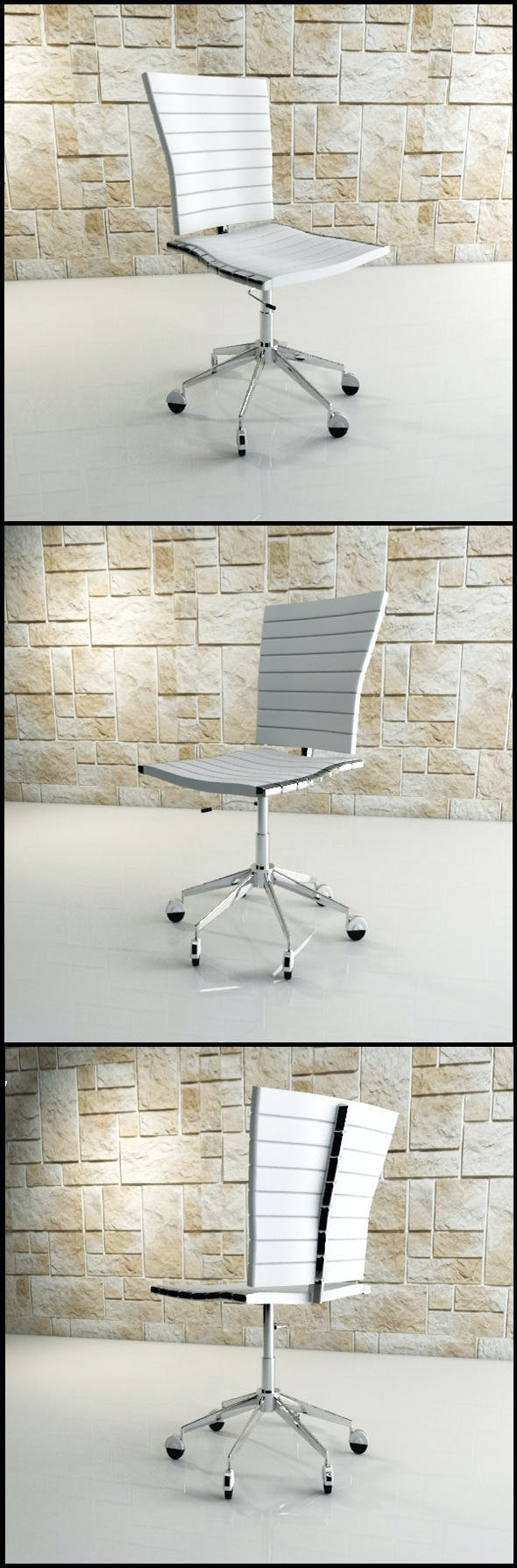 White Office Chair - 3DOcean Item for Sale