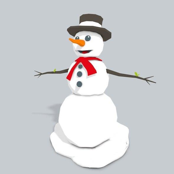 3D Snowman Low Poly