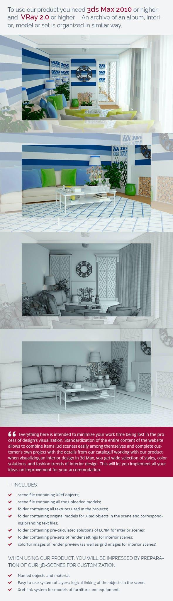 Living Room 0440 - 3DOcean Item for Sale