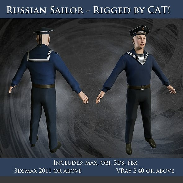 Russian Sailor Character - Full Rig