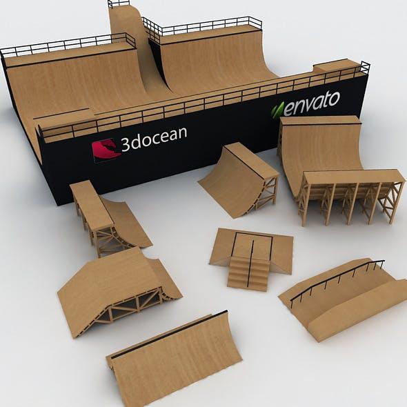 Mega Halfpipe Skate Park Bundle