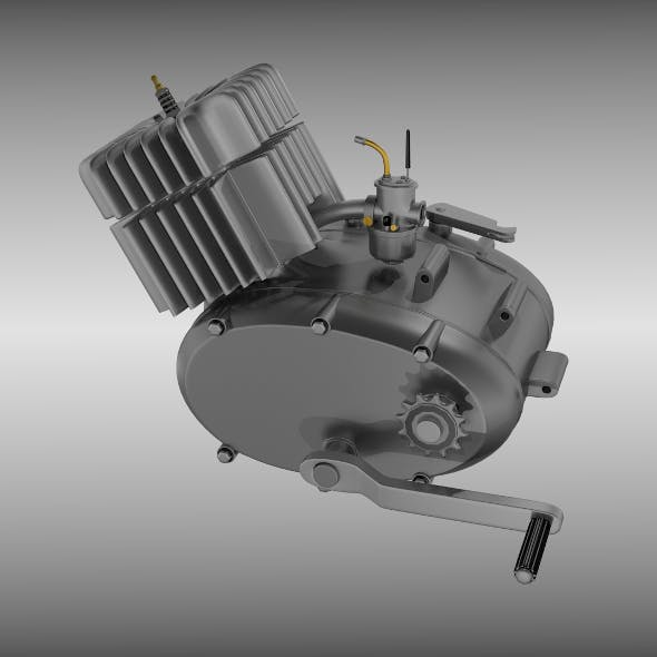 Two stroke moped motorcycle engine - 3DOcean Item for Sale