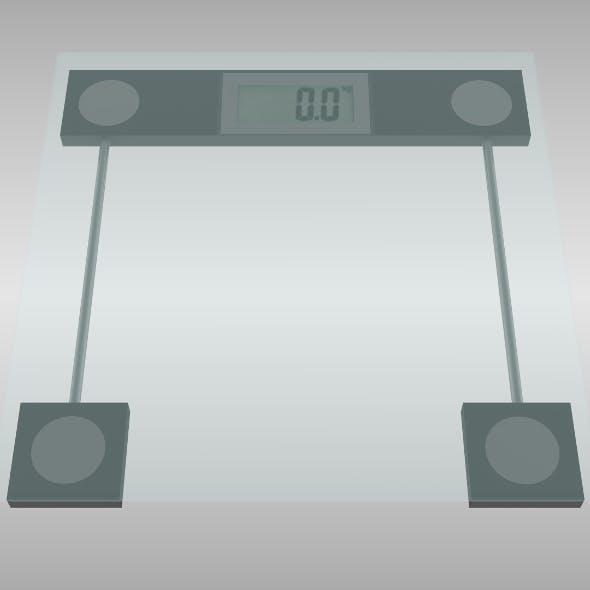 Bathroom scale - 3DOcean Item for Sale
