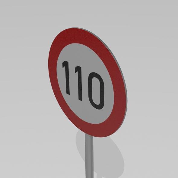 110 Speed limit sign