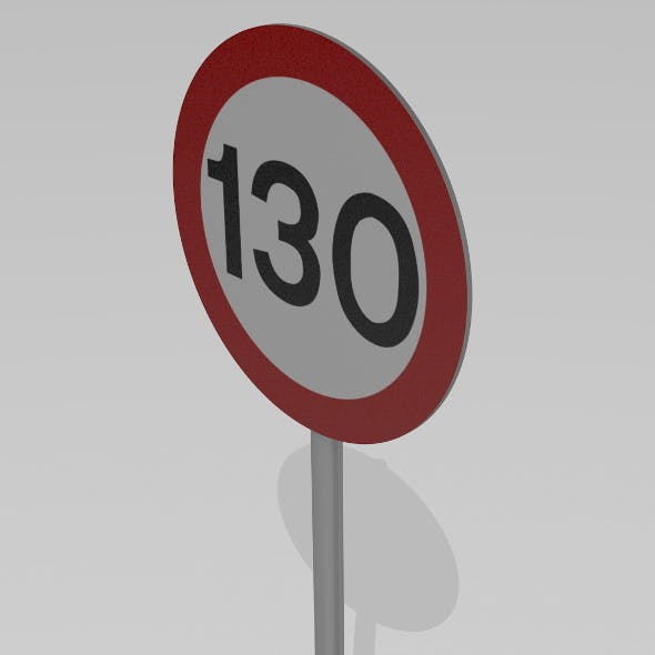 130 Speed limit sign