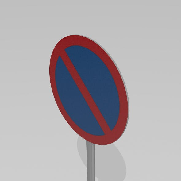 No parking sign - 3DOcean Item for Sale