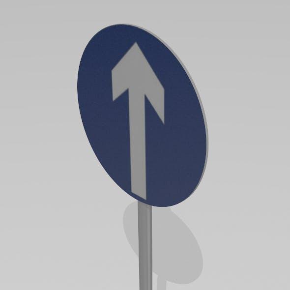 Go straight sign