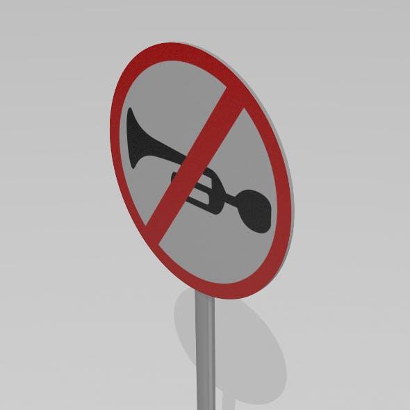 Horn prhibited - 3DOcean Item for Sale