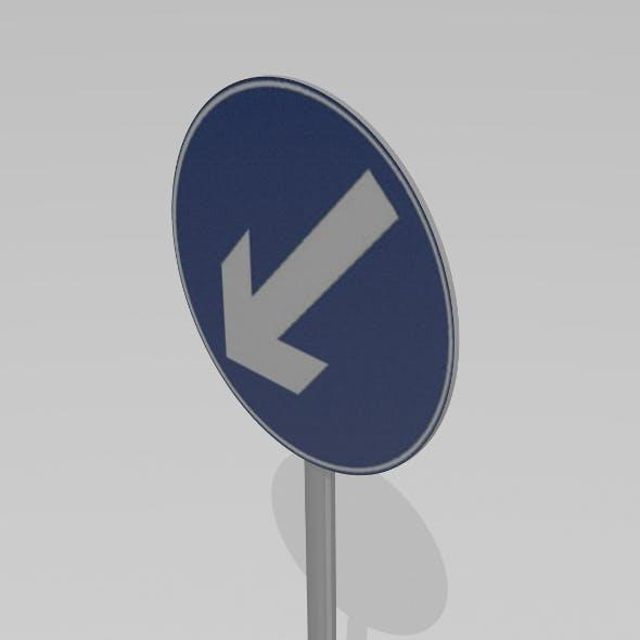 Keep left sign - 3DOcean Item for Sale