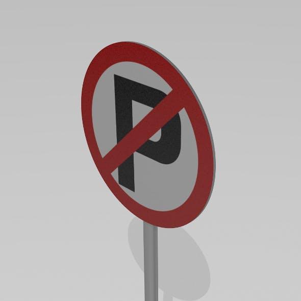 No parking sign - 3DOcean Item for Sale