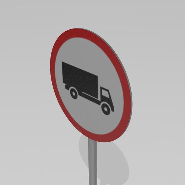 Heavy vehicles prohibited sign