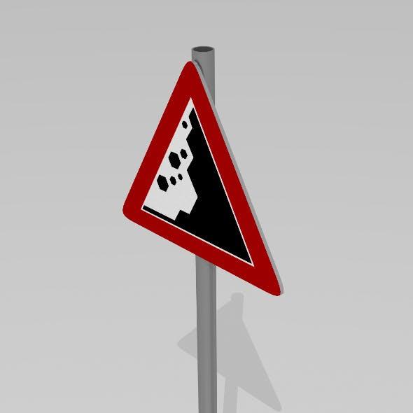 Falling rocks sign - 3DOcean Item for Sale
