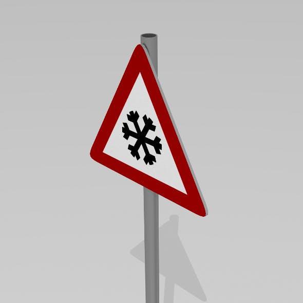 Black ice sign