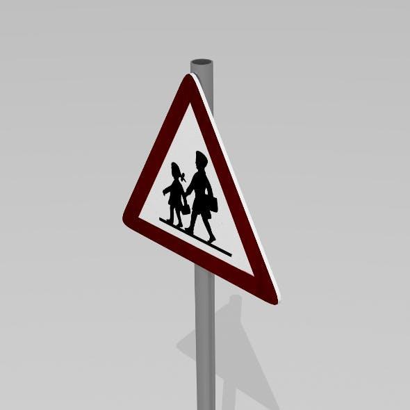 Children sign - 3DOcean Item for Sale