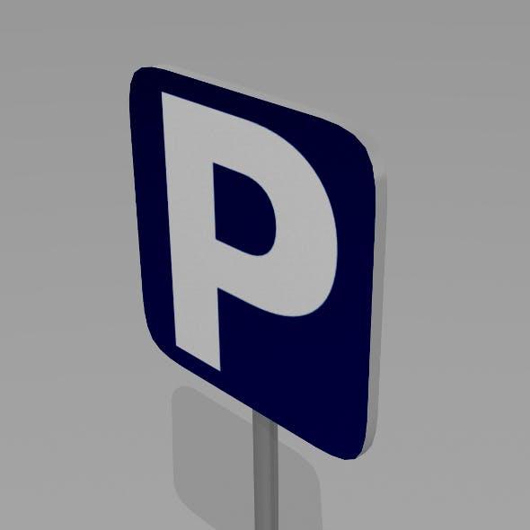 Parking sign - 3DOcean Item for Sale