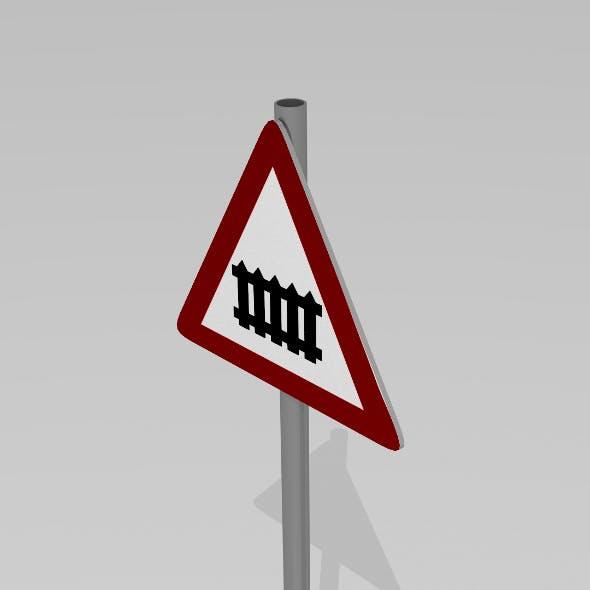 Rail crossing sign