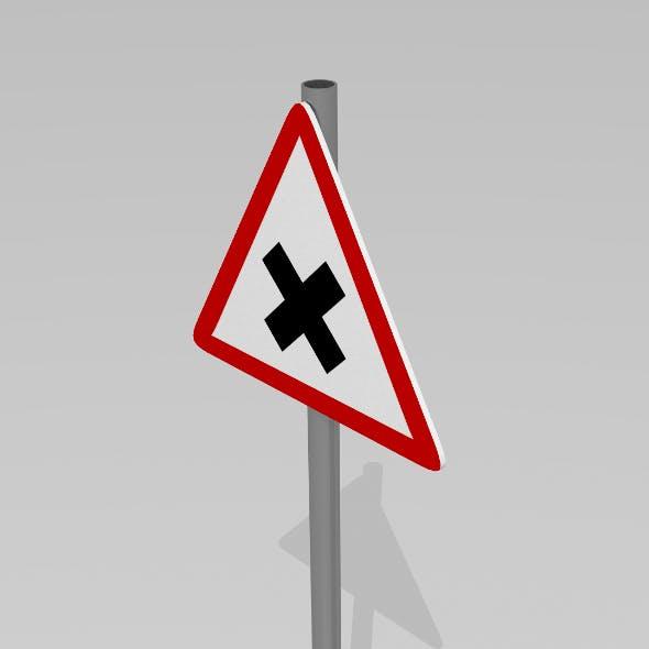 Road junction sign - 3DOcean Item for Sale