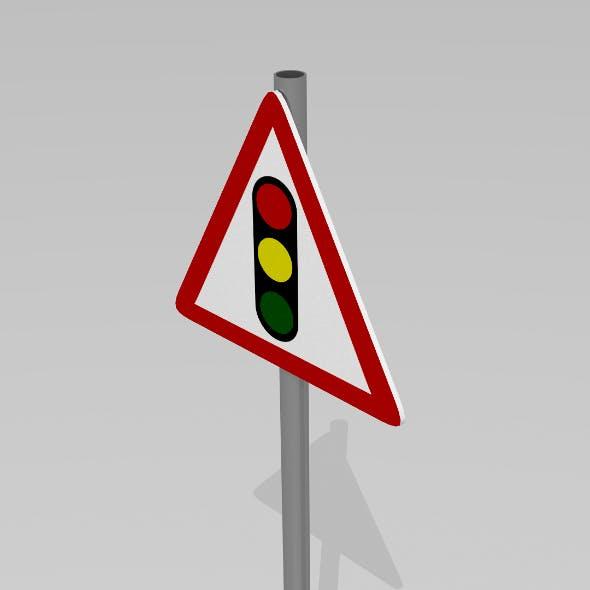 Signal ahead sign