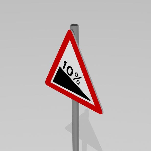 Steep gradient sign