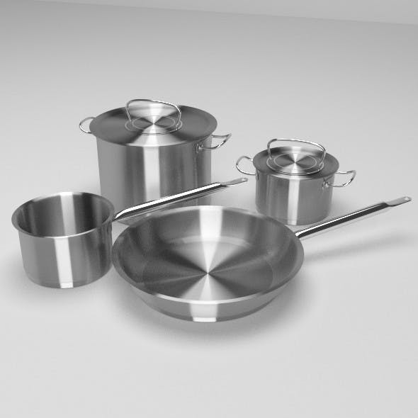 Cooking Pots and Pan - 3DOcean Item for Sale